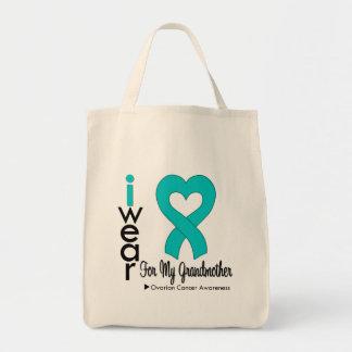 Câncer de ovário eu visto o coração da cerceta par bolsas de lona
