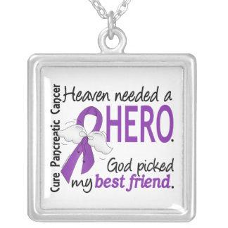 Câncer de pâncreas necessário do melhor amigo do h colar com pendente quadrado