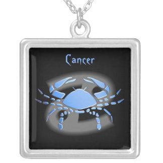 Cancer de Pendentif signe du zodíaco Colar Com Pendente Quadrado