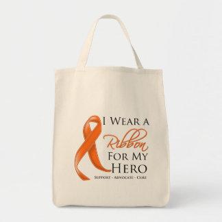 Câncer de rim eu visto uma fita para meu herói bolsas para compras