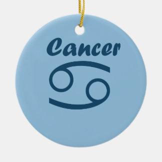 Cancer do sinal do zodíaco ornamento de cerâmica redondo