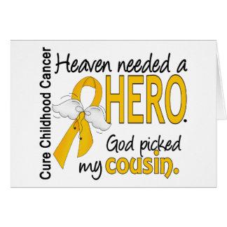 Cancer necessário da infância do primo do herói do cartão comemorativo