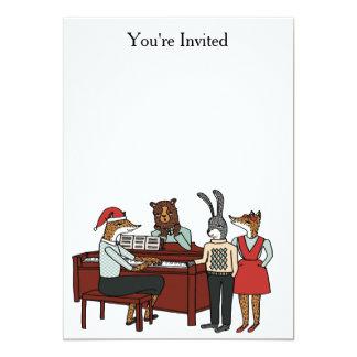 Canções de natal do Natal em torno do convite do