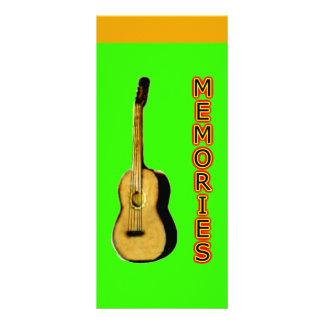 Canções do marcador cantadas as memórias modelos de panfletos informativos