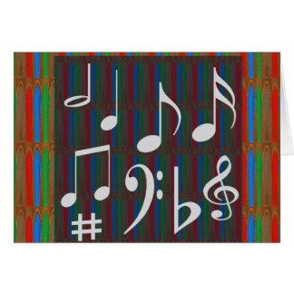 Canções dos cantores de Mastreo do músico de banda Cartão Comemorativo