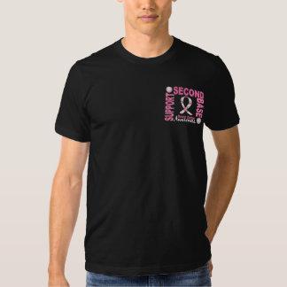 Cancro da mama da segunda base 1 camisetas