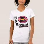CANCRO DA MAMA do formando da radiação T-shirts