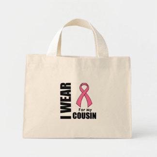 Cancro da mama eu visto o rosa para meu primo bolsa de lona