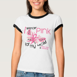 Cancro da mama EU VISTO o ROSA PARA MINHA MAMÃ 45 Camiseta