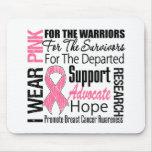 Cancro da mama eu visto o TRIBUTO cor-de-rosa da f Mouse Pad