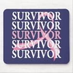 Cancro da mama lunático da colagem do sobrevivente mousepads