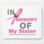 Cancro da mama na memória de minha irmã mousepad