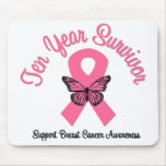 Cancro da mama sobrevivente de 10 anos mouse pads