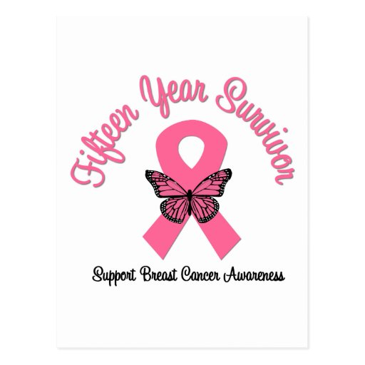 Cancro da mama sobrevivente de 15 anos cartões postais