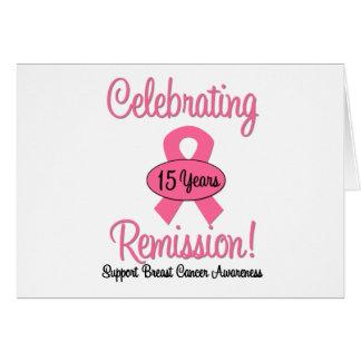 Cancro da mama uma remissão de 15 anos cartão comemorativo