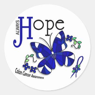 Cancro do cólon da borboleta do vitral adesivo