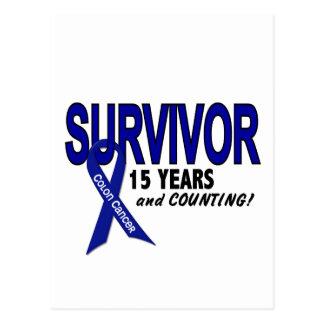 Cancro do cólon sobrevivente de 15 anos cartão postal