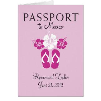 Cancun, convite do passaporte do casamento de