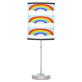 Candeeiro de mesa do arco-íris luminária