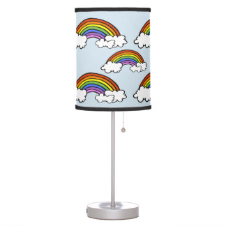 Candeeiro de mesa do arco-íris luminária de mesa