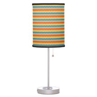 Candeeiro de mesa do ziguezague do arco-íris luminária