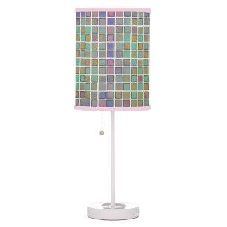 Candeeiro de mesa multicolorido dos quadrados