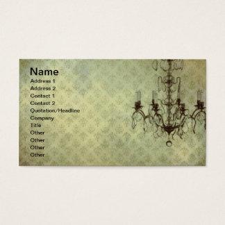 Candelabro 10 do papel de parede do Grunge Cartão De Visitas