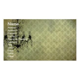 Candelabro do papel de parede do Grunge Cartão De Visita