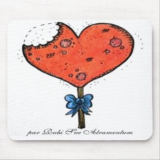 Candy coração mouse pad