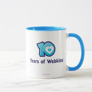 Caneca 10 anos de logotipo de Webkinz