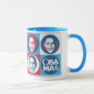 Caneca 2012 do pop art de Obama