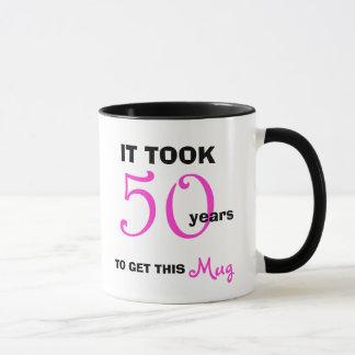 Caneca 50th Ideias do presente de aniversário para a