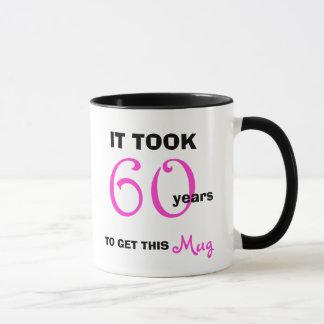 Caneca 60th Ideias do presente de aniversário para sua