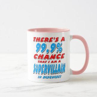 Caneca 99,9% Eu sou um BANDIDO SUPER (o preto)