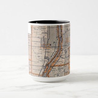 Caneca A Batávia Illinois Plat Fox 1870 do mapa River