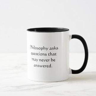 Caneca A filosofia faz as perguntas que podem nunca ser