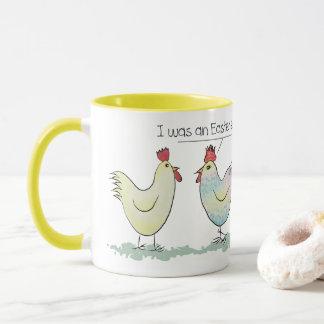 Caneca A galinha engraçada era um ovo da páscoa