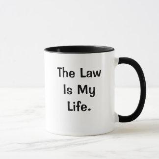 Caneca A lei é minhas citações profundas engraçadas da