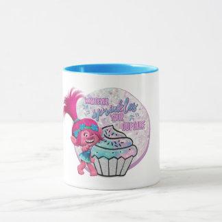 Caneca A papoila dos troll | polvilha seu cupcake