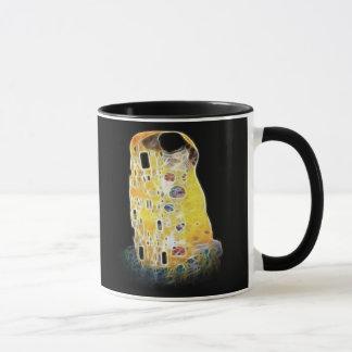Caneca A pintura amarela de Gustavo Klimt Digital do