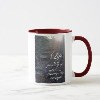 Caneca A vida é um copo de café inspirado das citações da