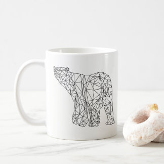 Caneca abstrata geométrica da forma do urso polar