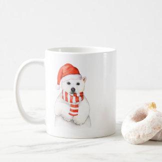 Caneca adorável do urso polar do feriado