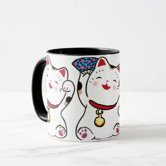 Caneca afortunada de Maneki Neko do gato