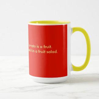 Caneca Agrida para o café, chá, vermelho, amarelo,