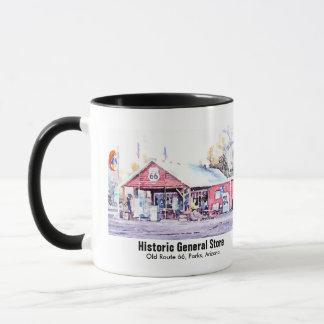Caneca Aguarela histórica da loja geral da arizona da