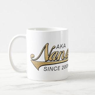 """Caneca """"AKA Nana de Nana Grandmom desde… """""""
