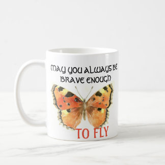 Caneca alaranjada da borboleta