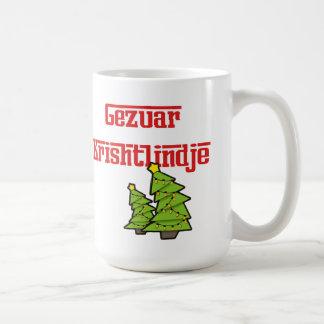 Caneca (albanesa) do Natal do Feliz Natal