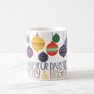 Caneca alegre & brilhante do Natal